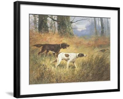 Pointers in a Landscape-Eugene Petit-Framed Giclee Print