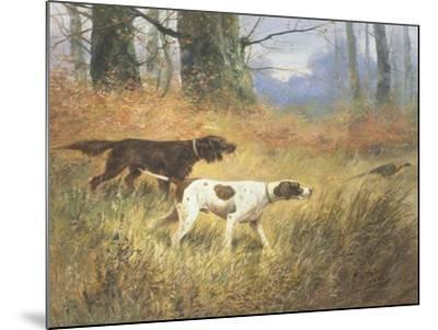 Pointers in a Landscape-Eugene Petit-Mounted Giclee Print