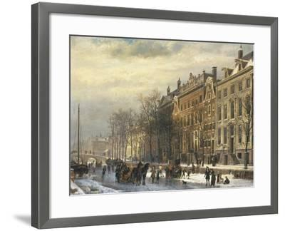 View on the Herengracht Along the Amstel at Amsterdam-Cornelis Springer-Framed Giclee Print
