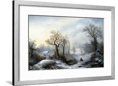 Glistening Winter's Eve-William Stone-Framed Giclee Print