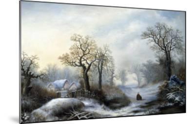 Glistening Winter's Eve-William Stone-Mounted Giclee Print