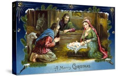 The Nativity--Stretched Canvas Print