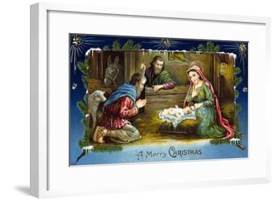 The Nativity--Framed Giclee Print