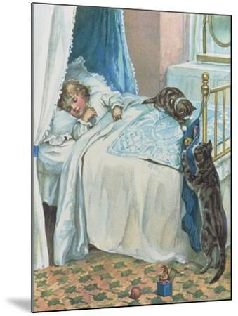 Christmas Morning--Mounted Giclee Print