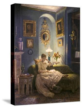 Evening at Home-Edward John Poynter-Stretched Canvas Print