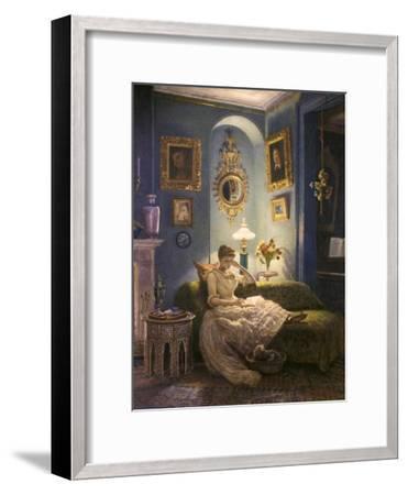Evening at Home-Edward John Poynter-Framed Giclee Print