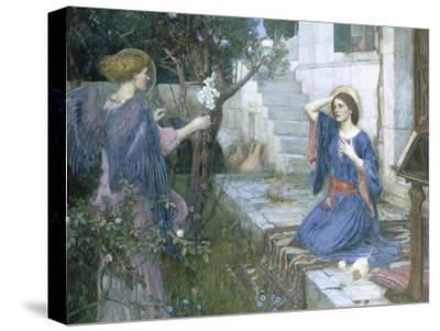 The Annunciation, c.1914-John William Waterhouse-Stretched Canvas Print