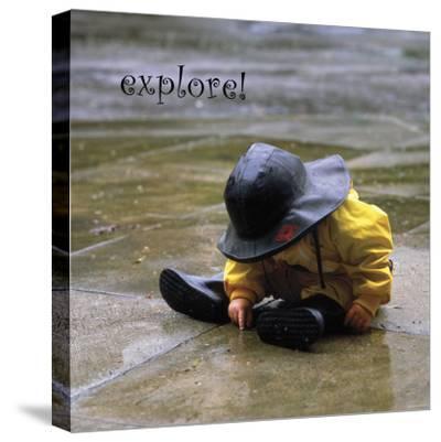 Explore: Child in the Rain-Nicole Katano-Stretched Canvas Print