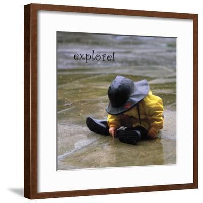 Explore: Child in the Rain-Nicole Katano-Framed Photo