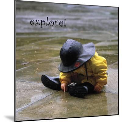 Explore: Child in the Rain-Nicole Katano-Mounted Photo