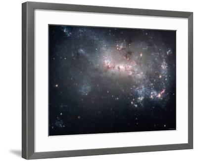 Magellanic Dwarf Irregular Galaxy NGC 4449 in the Constellation Canes Venatici-Stocktrek Images-Framed Photographic Print