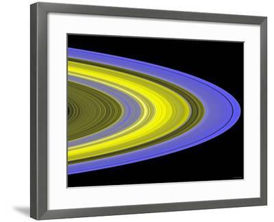 False-Color Image of Saturn's Main Rings Made Using Cassini's Ultraviolet Imaging Spectrograph-Stocktrek Images-Framed Photographic Print