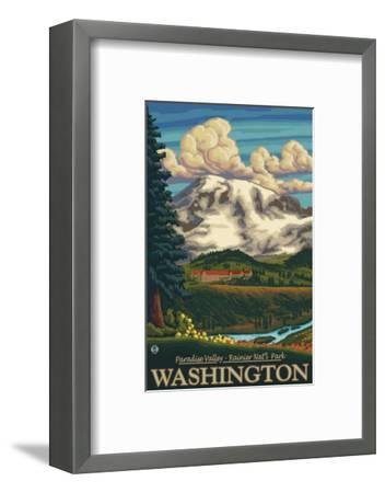 Paradise Inn, Mt. Rainier National Park, Washington-Lantern Press-Framed Art Print