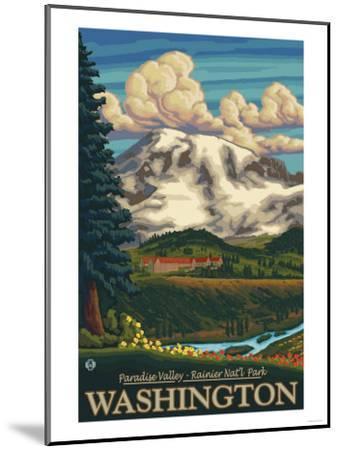 Paradise Inn, Mt. Rainier National Park, Washington-Lantern Press-Mounted Art Print