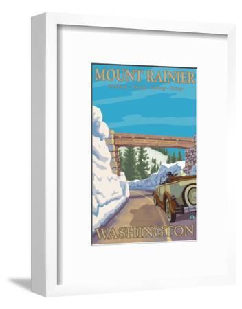 Entrance to Park, Mt. Rainier National Park, Washington-Lantern Press-Framed Art Print