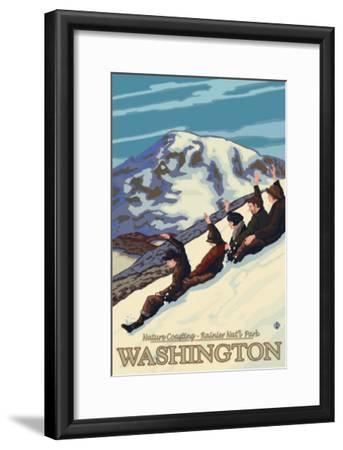 Nature Coasting, Mt. Rainier National Park, Washington-Lantern Press-Framed Art Print