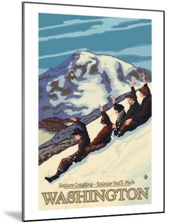 Nature Coasting, Mt. Rainier National Park, Washington-Lantern Press-Mounted Art Print