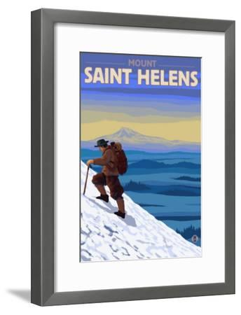 Mountain Climbing, Mount St. Helens, Washington-Lantern Press-Framed Art Print