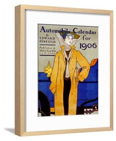 Cover for Automobile Calendar of 1906-Edward Penfield-Framed Art Print