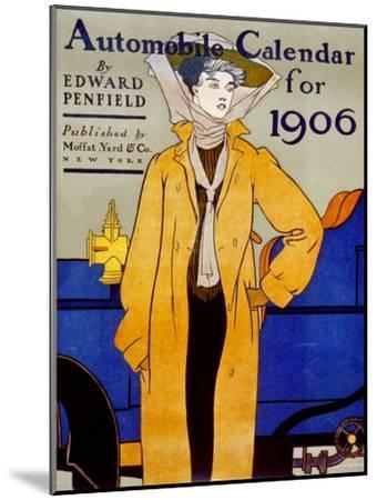 Cover for Automobile Calendar of 1906-Edward Penfield-Mounted Art Print