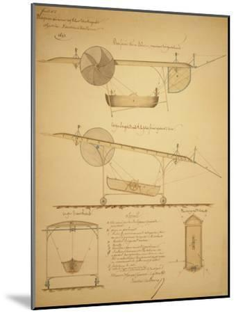 Design for Powering an Airship, c.1853-Vaussin-chardanne-Mounted Art Print