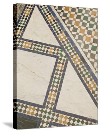 Mosaic Floor, Musee De Marrakech, Marrakech, Morocco-Walter Bibikow-Stretched Canvas Print
