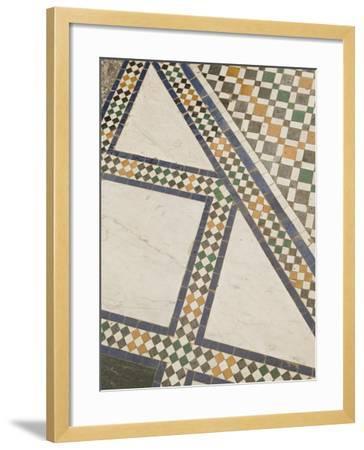 Mosaic Floor, Musee De Marrakech, Marrakech, Morocco-Walter Bibikow-Framed Photographic Print