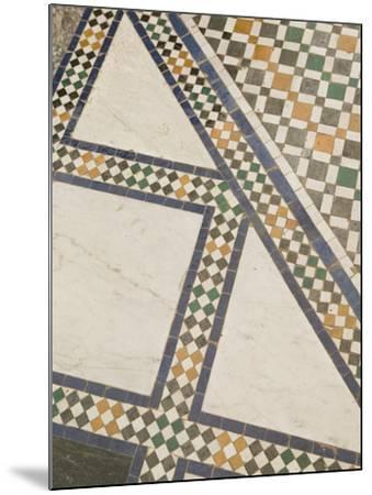 Mosaic Floor, Musee De Marrakech, Marrakech, Morocco-Walter Bibikow-Mounted Photographic Print