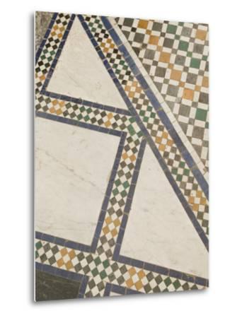 Mosaic Floor, Musee De Marrakech, Marrakech, Morocco-Walter Bibikow-Metal Print