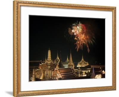 Emerald Palace During Commemoration of King Bumiphol's 50th Anniversary, Thailand-Russell Gordon-Framed Photographic Print