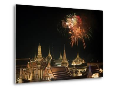 Emerald Palace During Commemoration of King Bumiphol's 50th Anniversary, Thailand-Russell Gordon-Metal Print