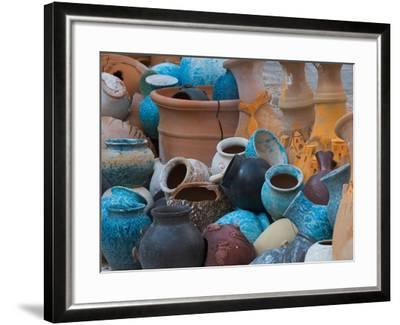Pottery on the Street in Cappadoccia, Turkey-Darrell Gulin-Framed Photographic Print