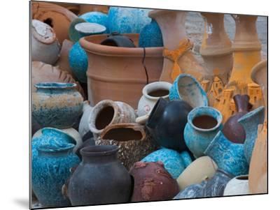 Pottery on the Street in Cappadoccia, Turkey-Darrell Gulin-Mounted Photographic Print