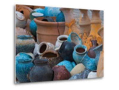 Pottery on the Street in Cappadoccia, Turkey-Darrell Gulin-Metal Print