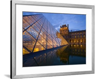 The Louvre at Twilight, Paris, France-Jim Zuckerman-Framed Photographic Print