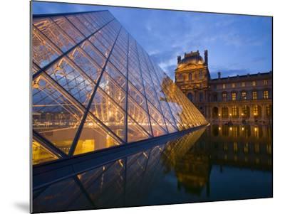 The Louvre at Twilight, Paris, France-Jim Zuckerman-Mounted Photographic Print