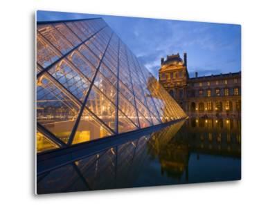 The Louvre at Twilight, Paris, France-Jim Zuckerman-Metal Print