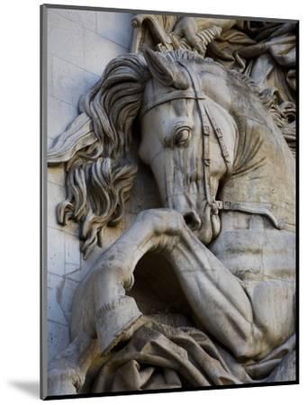 Horse Head Detail on the Arc de Triomphe, Paris, France-Jim Zuckerman-Mounted Photographic Print