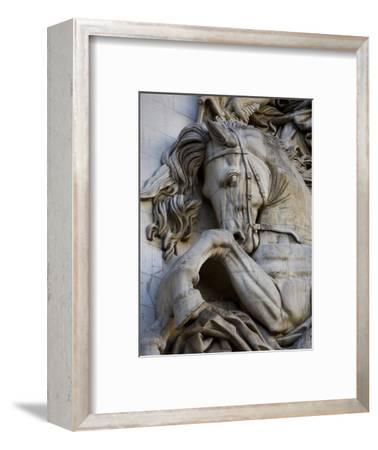 Horse Head Detail on the Arc de Triomphe, Paris, France-Jim Zuckerman-Framed Photographic Print