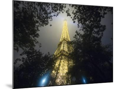 Nighttime View Looking up at Eiffel Tower, Paris, France-Jim Zuckerman-Mounted Photographic Print