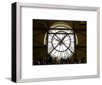 Diners Behind Famous Clocks in the Musee d'Orsay, Paris, France-Jim Zuckerman-Framed Photographic Print