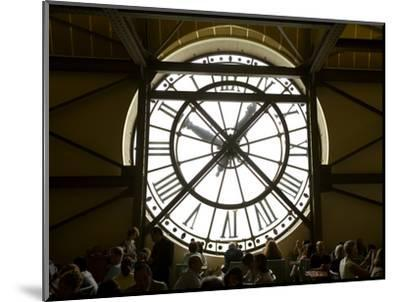 Diners Behind Famous Clocks in the Musee d'Orsay, Paris, France-Jim Zuckerman-Mounted Photographic Print