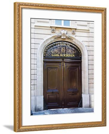 Entrance to Champagne Louis Roederer, Reims, Champagne, Marne, Ardennes, France-Per Karlsson-Framed Photographic Print