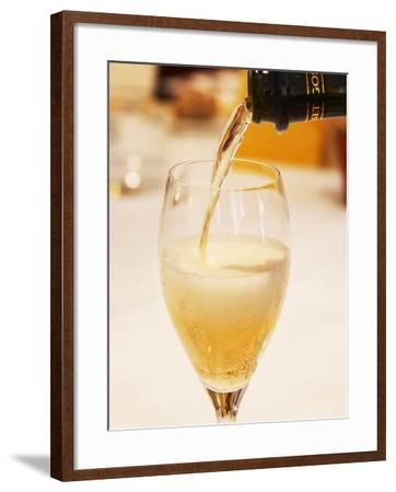 Champagne Flute with Gosset Grand Reserve Champagne, Restaurant Les Berceaux, Patrick Michelon-Per Karlsson-Framed Photographic Print