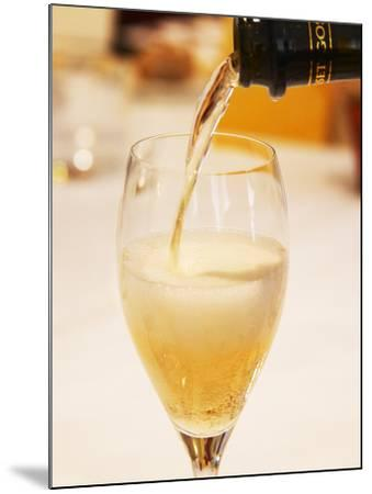 Champagne Flute with Gosset Grand Reserve Champagne, Restaurant Les Berceaux, Patrick Michelon-Per Karlsson-Mounted Photographic Print