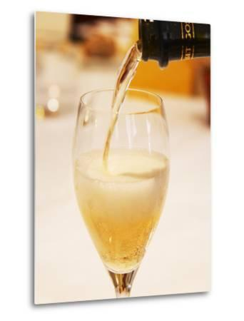 Champagne Flute with Gosset Grand Reserve Champagne, Restaurant Les Berceaux, Patrick Michelon-Per Karlsson-Metal Print