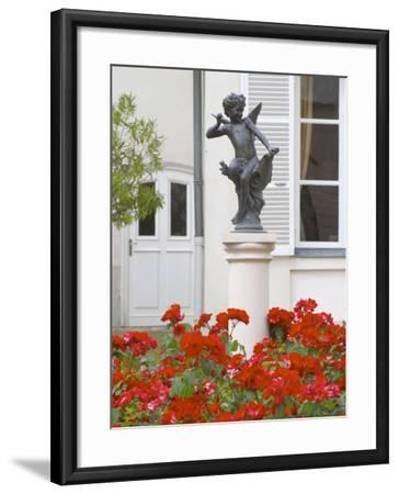 Courtyard Statue of Cupid, Amour De Deutz at Champagne Deutz, Ay, Vallee De La Marne, France-Per Karlsson-Framed Photographic Print