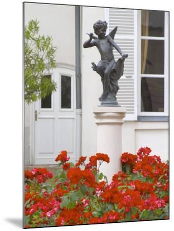 Courtyard Statue of Cupid, Amour De Deutz at Champagne Deutz, Ay, Vallee De La Marne, France-Per Karlsson-Mounted Photographic Print