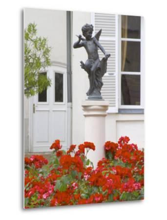 Courtyard Statue of Cupid, Amour De Deutz at Champagne Deutz, Ay, Vallee De La Marne, France-Per Karlsson-Metal Print