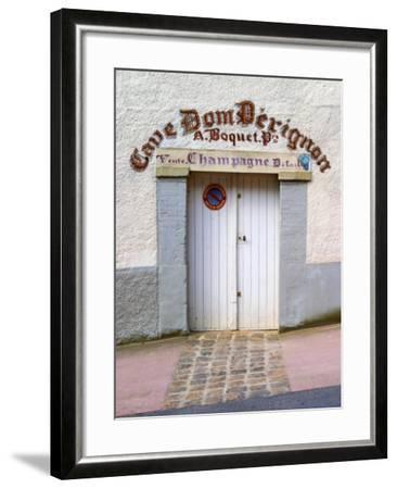 Entrance to Cellar in Cave Dom Perignon, Hautvillers, Vallee De La Marne, Champagne, France-Per Karlsson-Framed Photographic Print